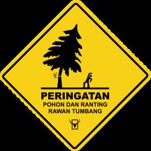 2017 - banner peringatan warning pohon tumbang