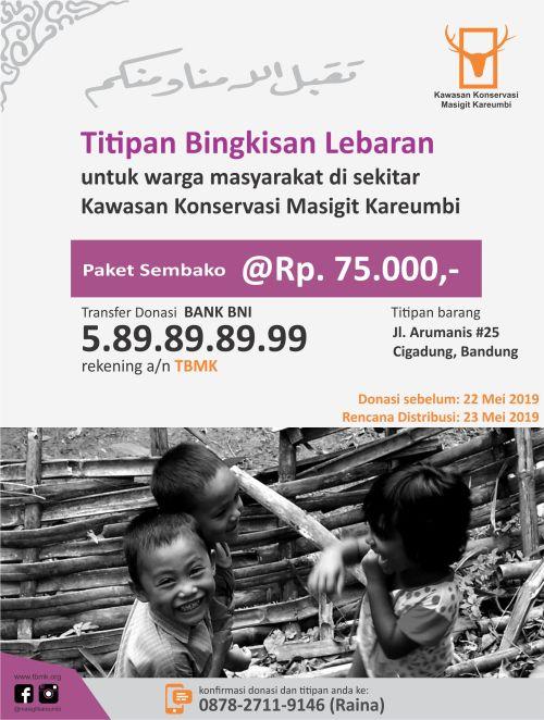 2019 TBMK poster - TBL titipan bingkisan lebaran 1440H